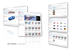 Web design + Content management system + Online shopping cart